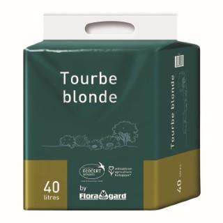 Tourbe blonde en sac de 40 L avec poignées 386892