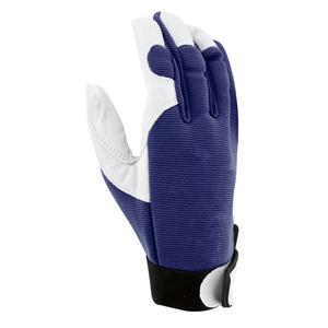 Gants Jardy cuir et élasthanne coloris bleu marine Taille 10 388161