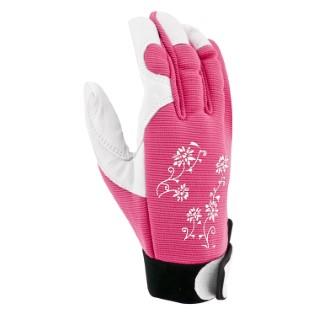 Gants Jardy cuir et élasthanne coloris Rose Taille 9 388168