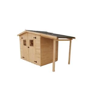 Abri Savoie 5,04 m2 avec plancher et bûcher livré et monté 396372