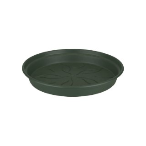 Soucoupe ronde en plastique couleur vert Leaf Green - Ø 10.1x1.5 cm 398032