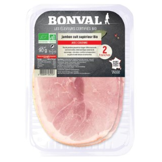 Jambon cuit AC 90g / 2 tranches 399858
