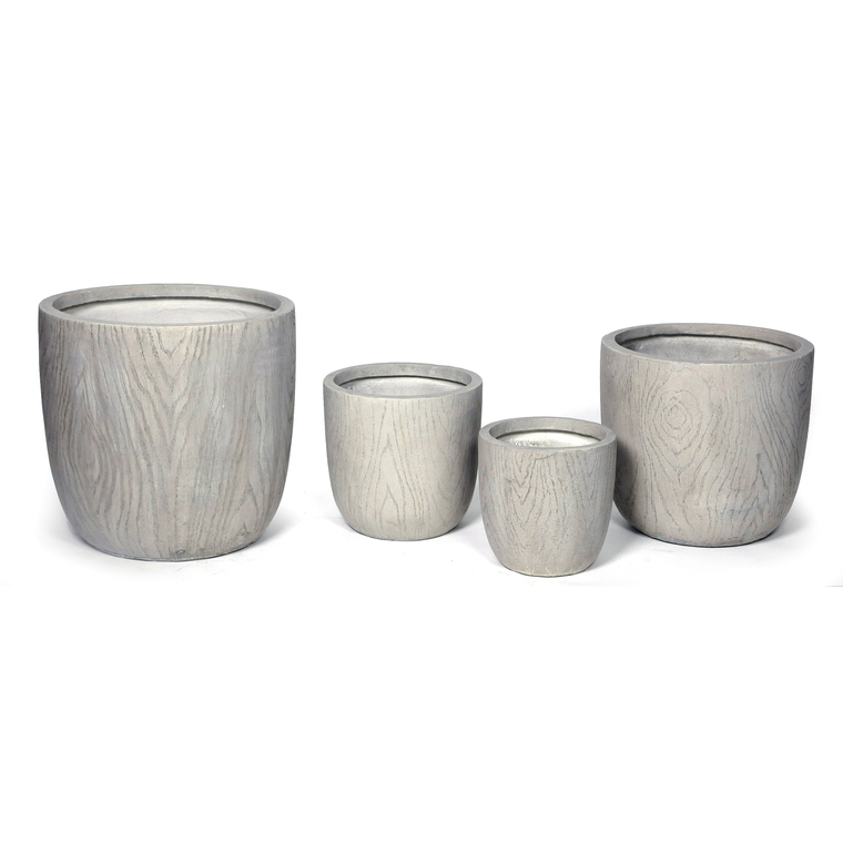 Pot rond LIA S/4 gris clair 14,22 L