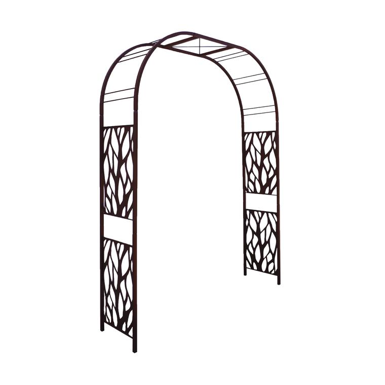 Arche Premium tôle avec décor végétal en fer vieilli