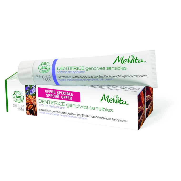 Dentifrice Gencives Sensibles Melvita 75 Ml