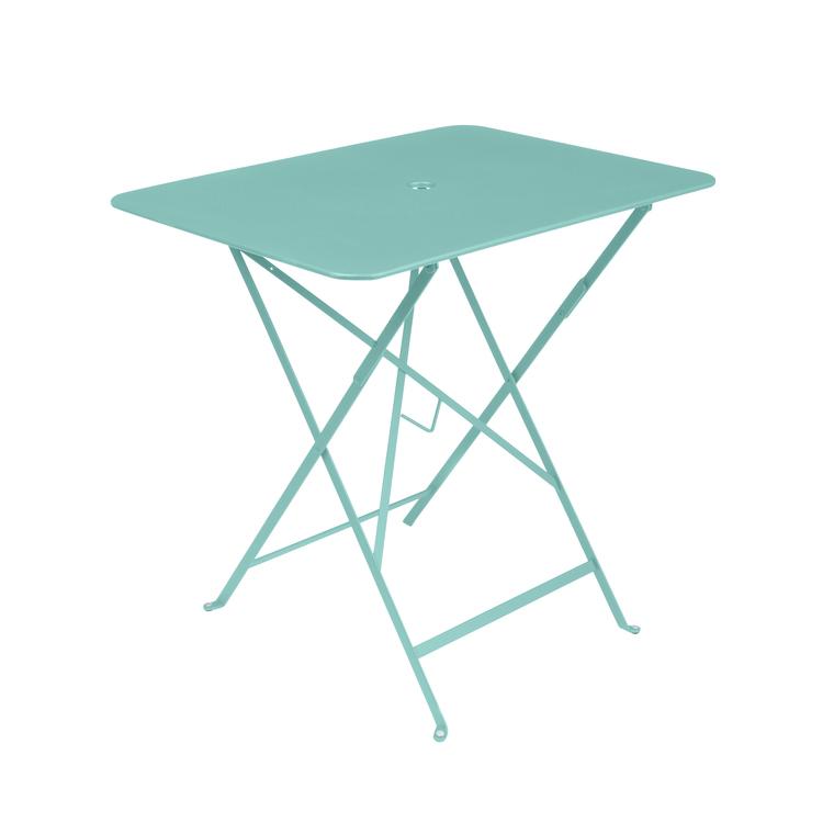 Table pliante rectangulaire couleur Bleue L77xl57xh74 301032