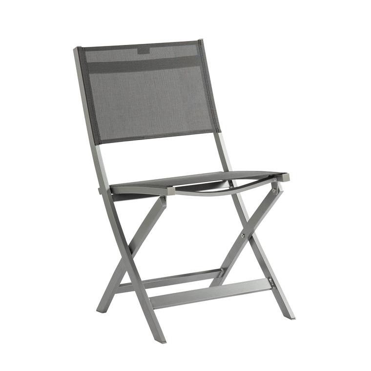 Chaise pliante JOE Gris argent 301360