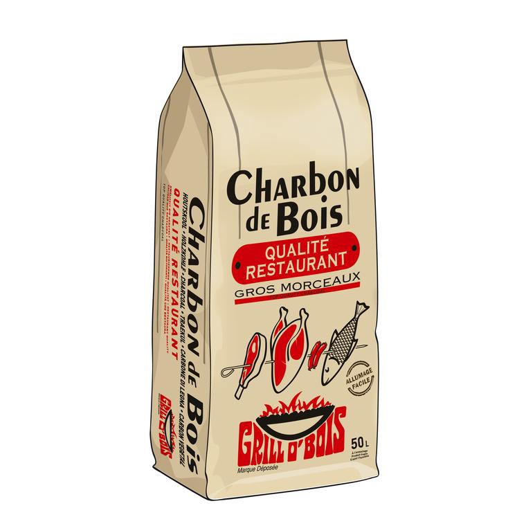 Charbon de bois grill. Le sac de 50L 306317
