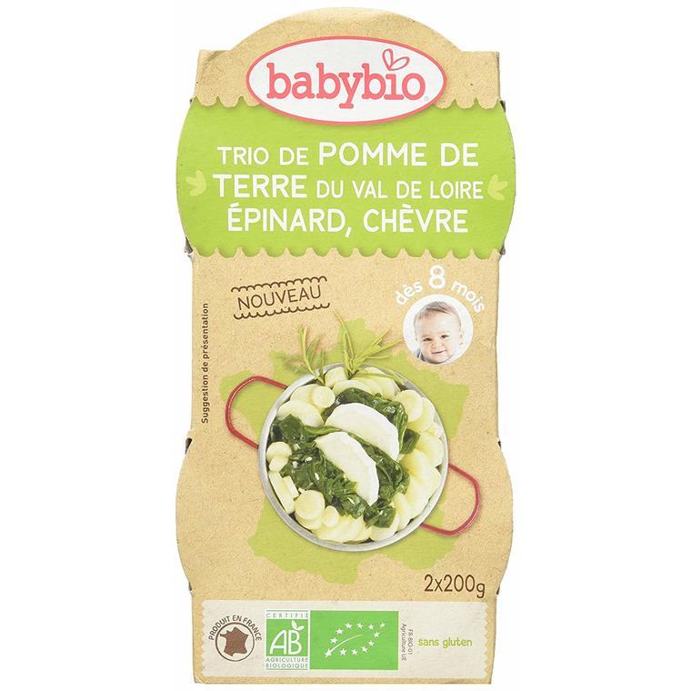Trio pomme de terre épinard et chèvre Babybio 2 x 200 g 310493