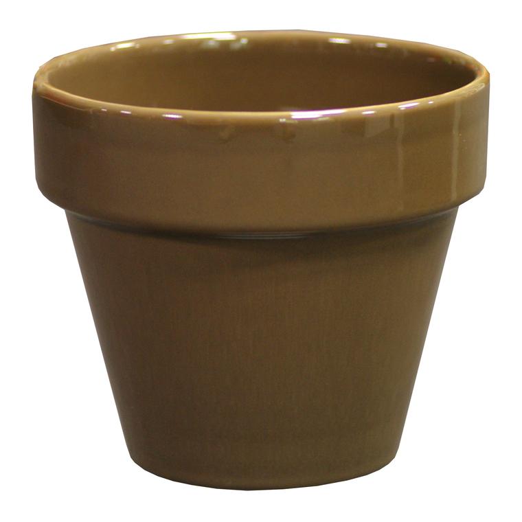Pot horticole en terre cuite émaillée Taupe – D19 x H17 310695