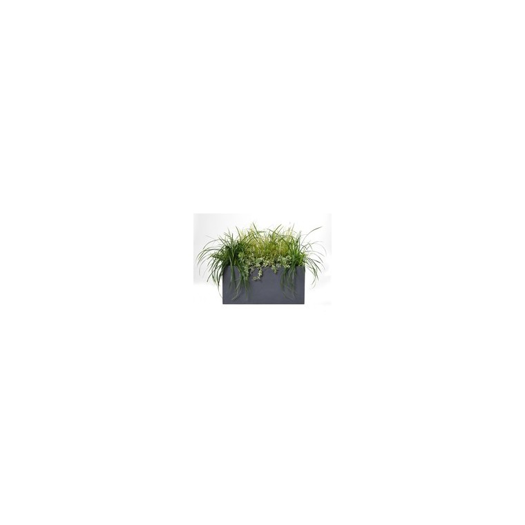 Bac rectangle GENEVE L.60x30xH.30 Gris 32093