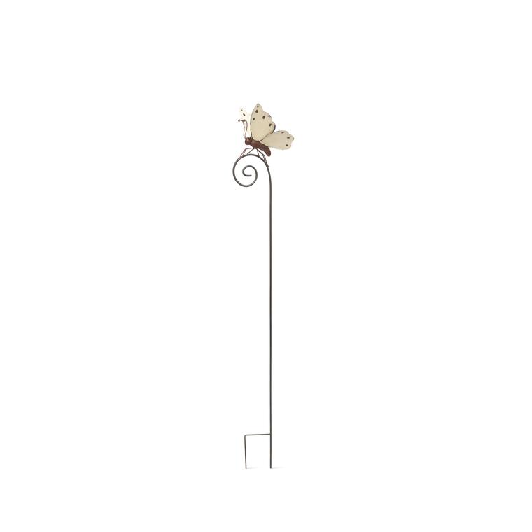 Tuteur papillon blanc en métal 14x18x98 cm 329510