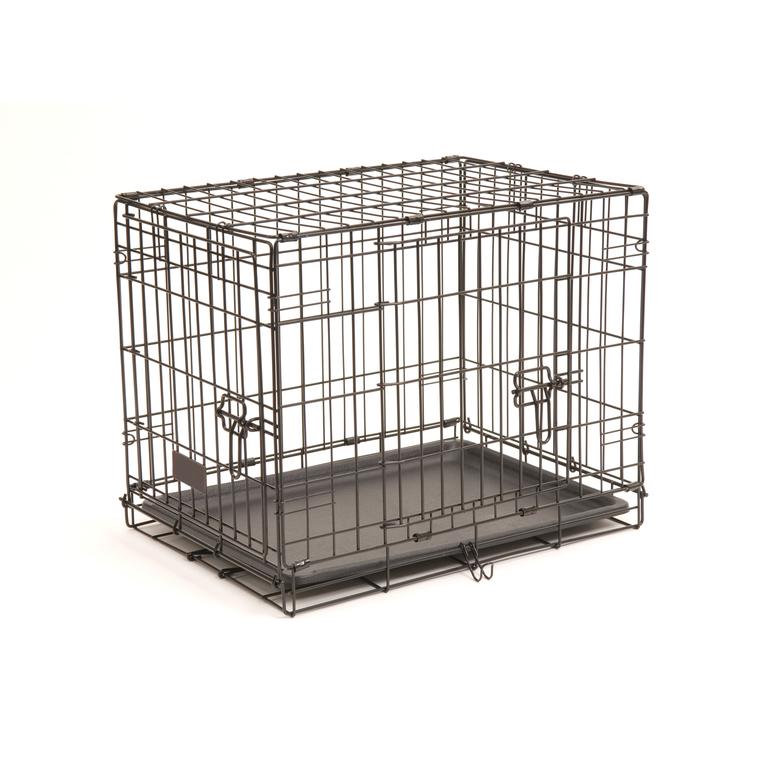 Cage de transport noire pour chien avec 2 portes 46 x 30 x 35 cm 330372