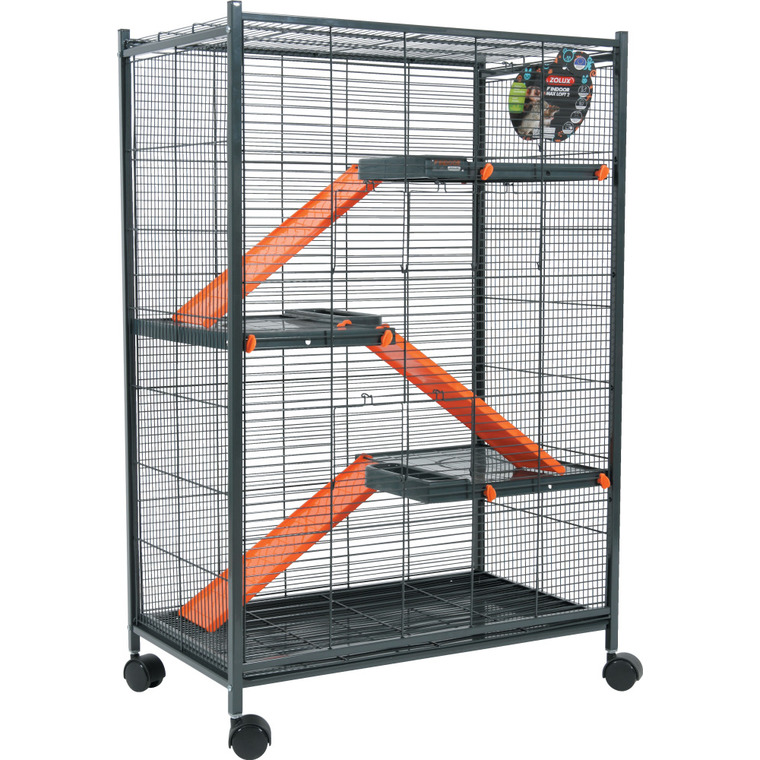 Cage pour rongeurs max loft indoor orange L. 72 x l. 43 x H. 107 cm 334560
