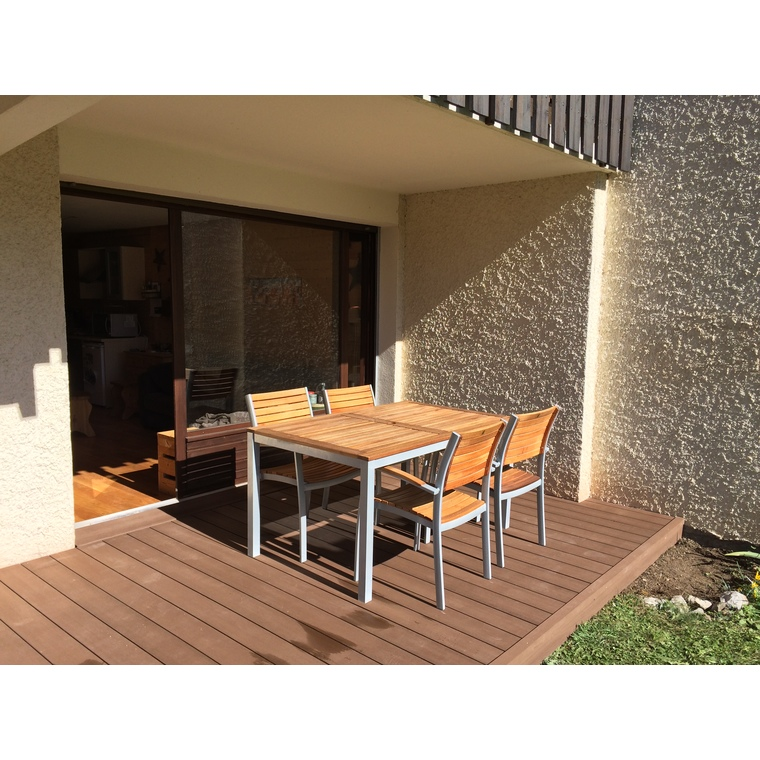 Pack complet terrasse composite chocolat 10 m2 334779