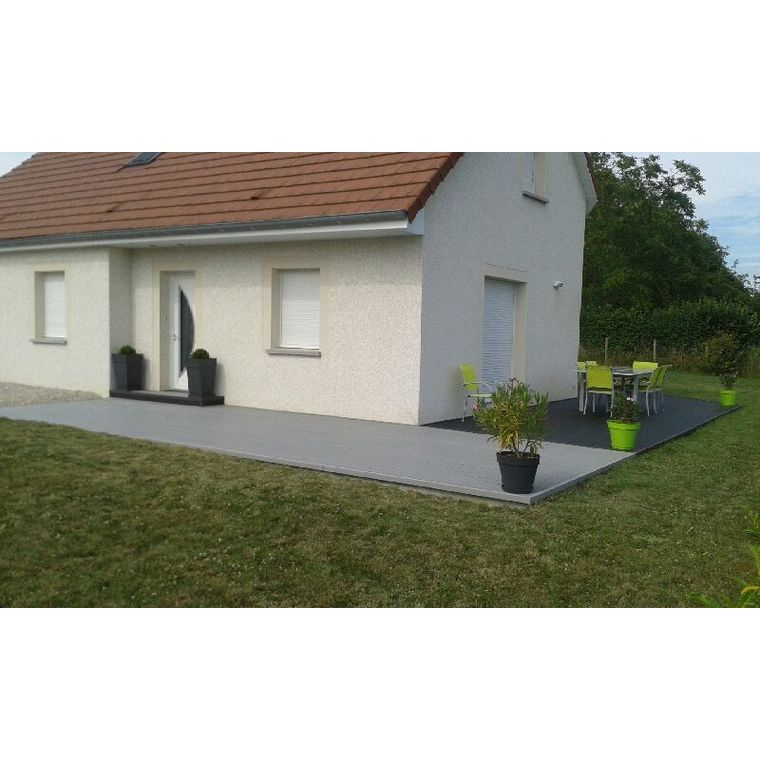 Pack complet terrasse composite gris 10 m2 334780