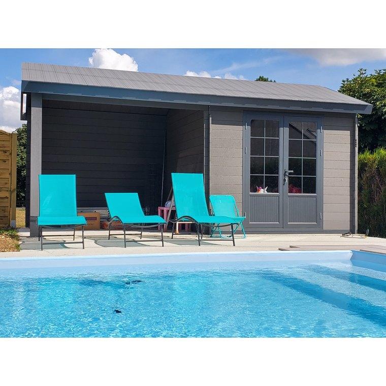 Abri de jardin Antibes composite 18,5 m² 334813