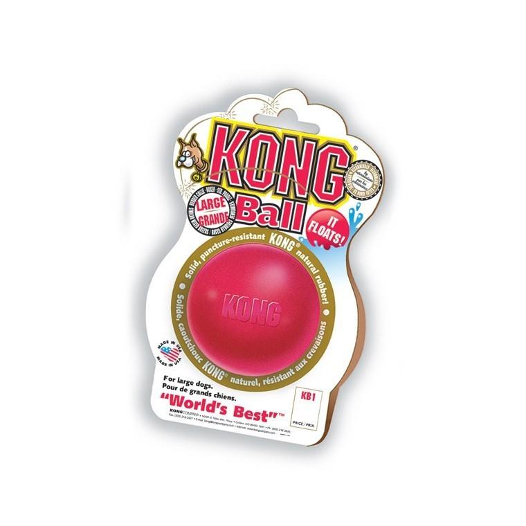 Jouet Chien Kong 7cm ball Large rouge 33502