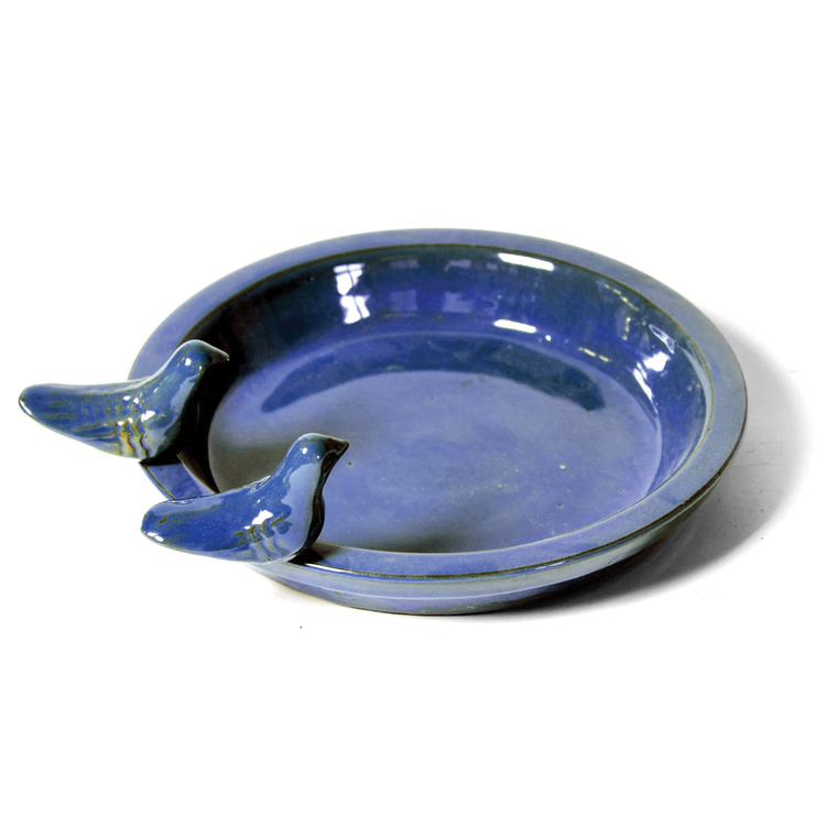 Bain d'oiseau rond bleu 335825