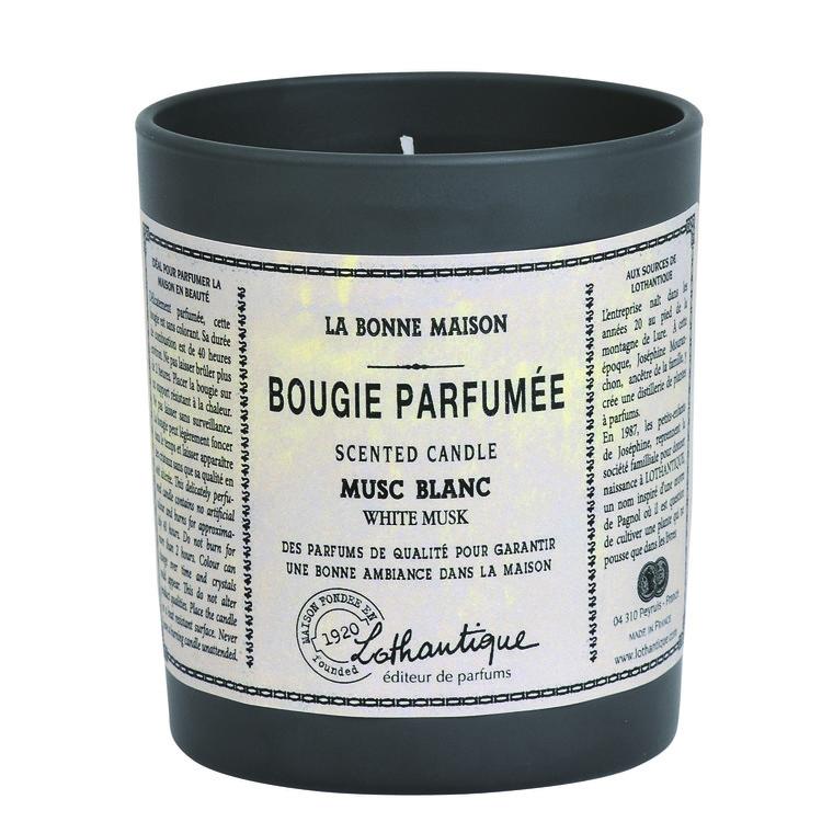Bougie ronde parfumée au Musc blanc - 160 gr 341178