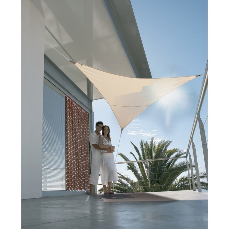Voile ombrage sable 3,6m triangulaire Serenity 34118