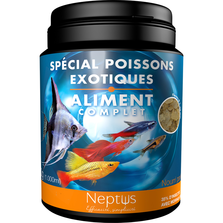 Aliment complet (flocons) pour poissons exotiques - Boîte 1000 ml 343003