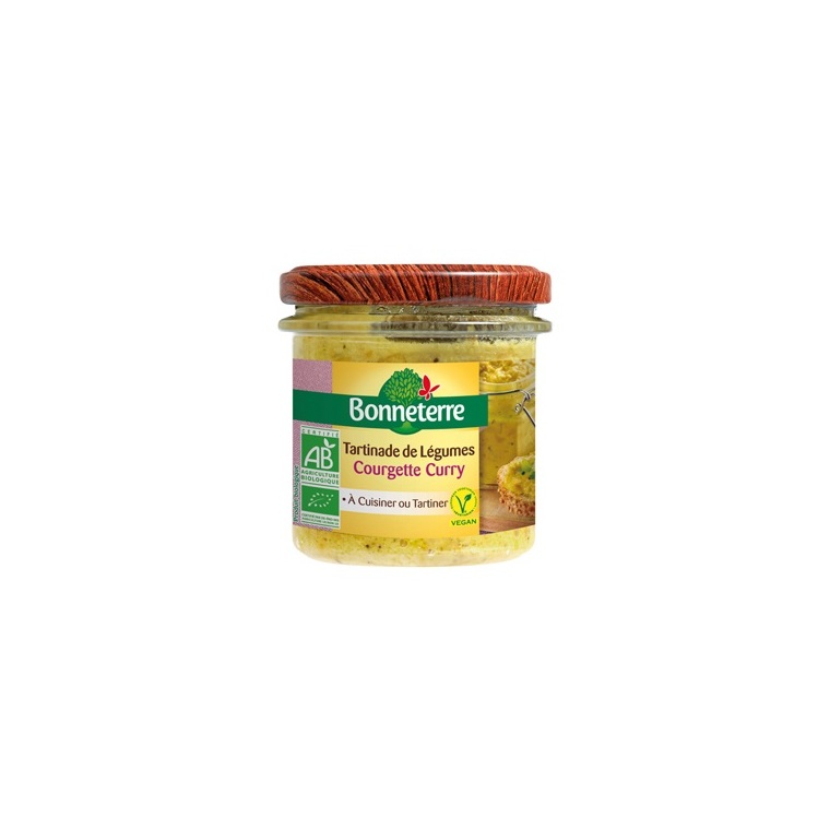Tartinade à la courgette et au curry Bonneterre bio 135 g 343277