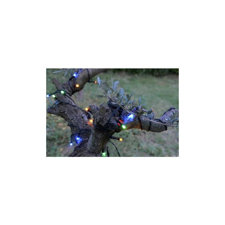 Guirlande lumineuse extérieure animée multicolore à LED solaire 1,2x20 m 344884