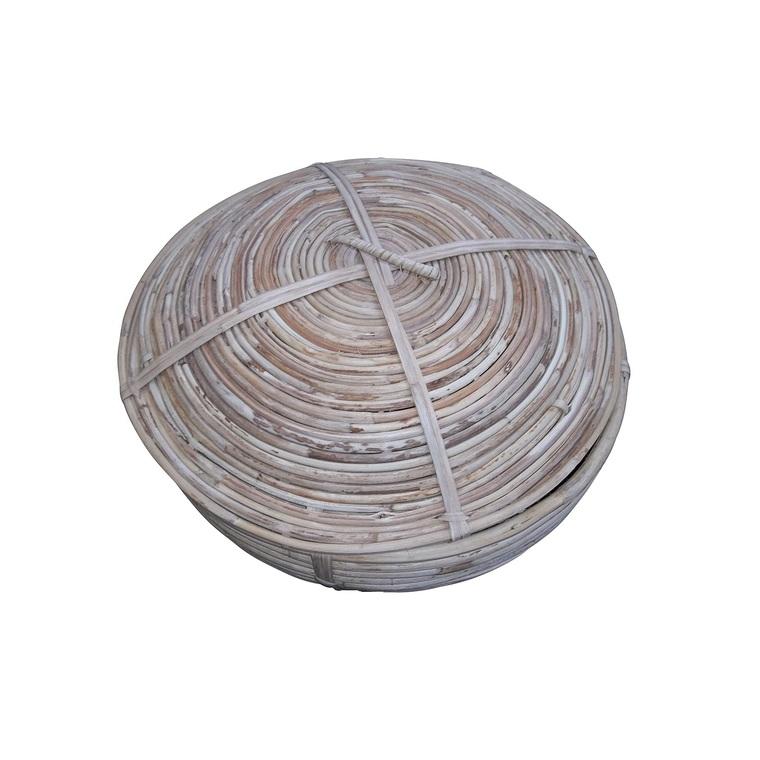 Boite conique en osier Ø 28 x H 20 cm 349009