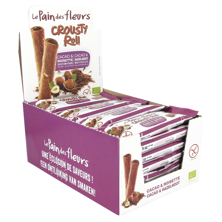 Crousty roll au chocolat bio en sachet fraîcheur de 25 g 349350