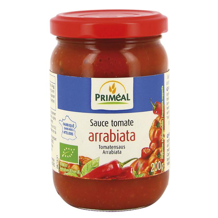 Sauce tomate à l'arrabiata bio en pot de 200 g 349379