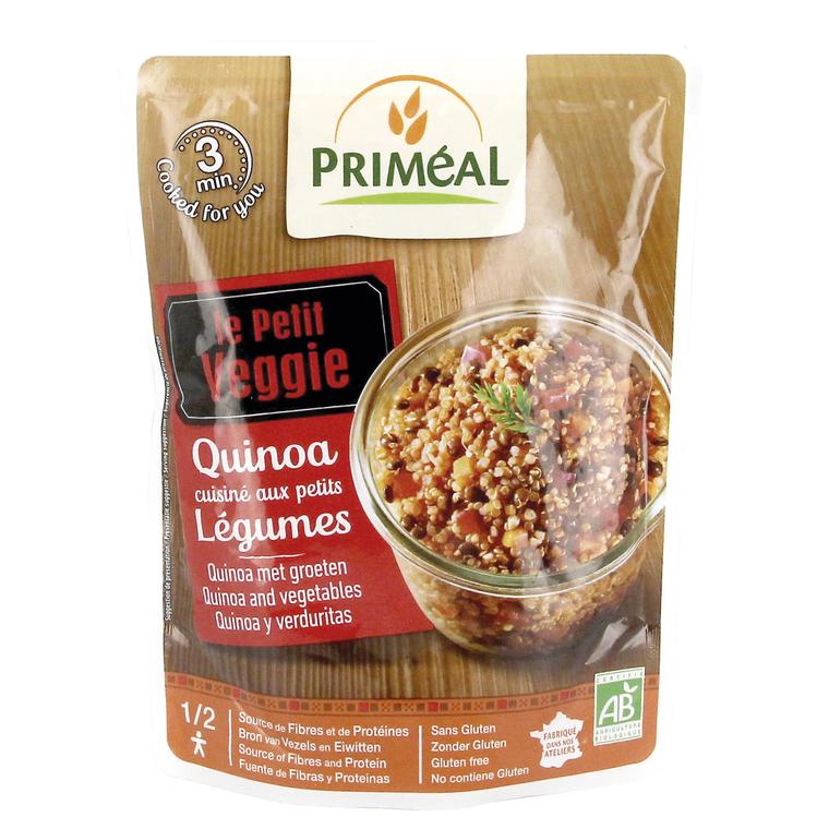 Repas quinoa et cuisine de légumes bio en doypack de 220 g 349384