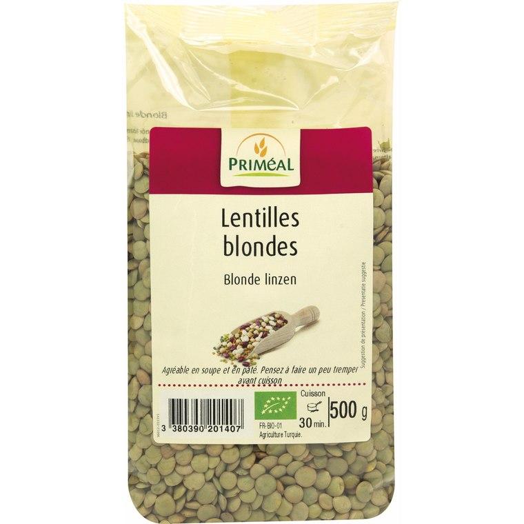 Lentilles blondes bio en sachet de 500 g 349402