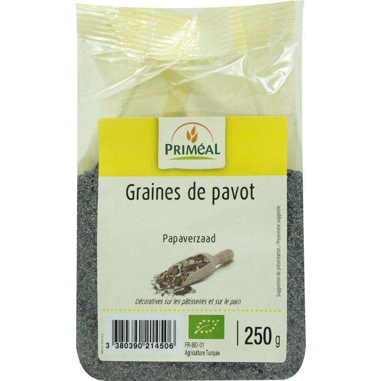 Graines de pavot bio en sachet de 250 g 349441