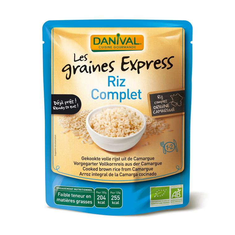 Riz bio complet Express DANIVAL 250 g 355139