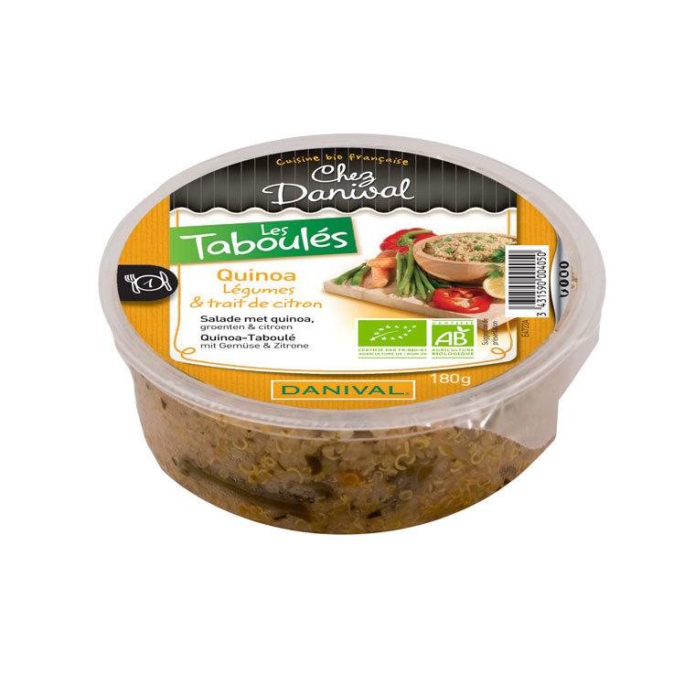 Taboulé de quinoa bio DANIVAL 180 g 355152