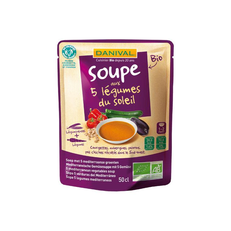 Soupe 5 légumes du soleil bio DANIVAL 520 g 355156