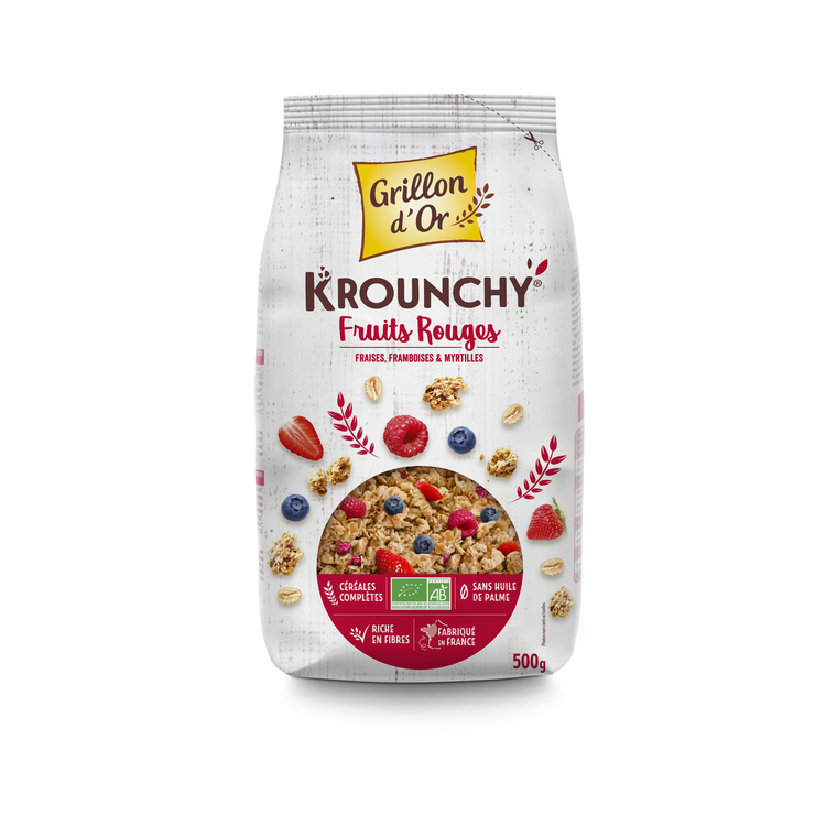 Krounchy fruits rouges GRILLON D'OR 356059