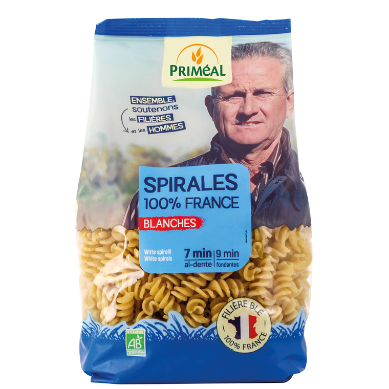 Spirales blanches PRIMEAL 500 g 358515