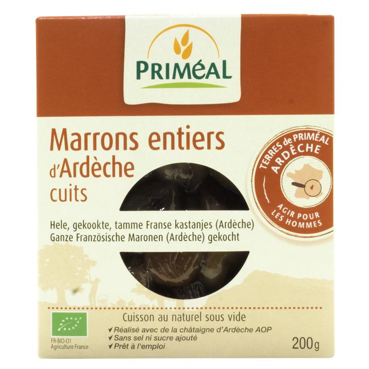 Marrons entiers cuits sous-vide 200 g PRIMEAL 358568