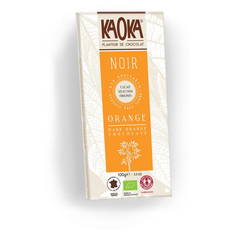 Chocolat noir orange KAOKA 100 g 358663