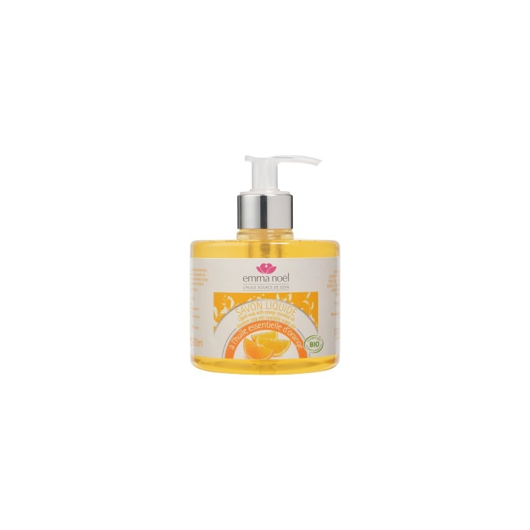 Savon liquide cosmebio à l'huile essentielle d'orange en format 300 ml 360126