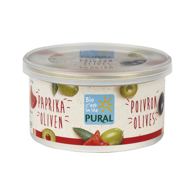Paté végétal olives poivrons PURAL 360824