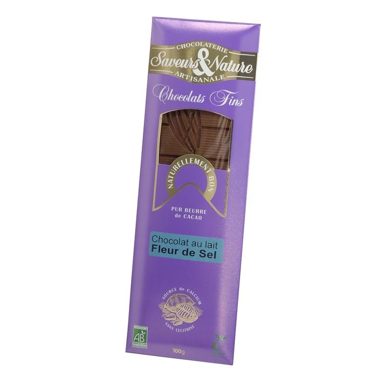 Chocolat au lait fleur de sel SAVEUR ET NATURE 364553