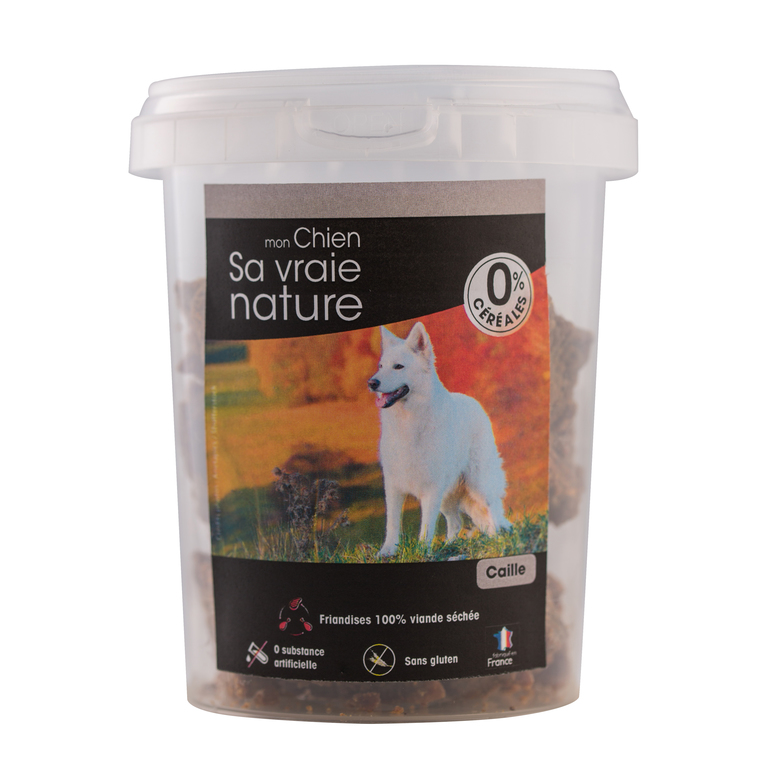 Friandises Sa vraie nature chien - 100% caille - 150 g 366608