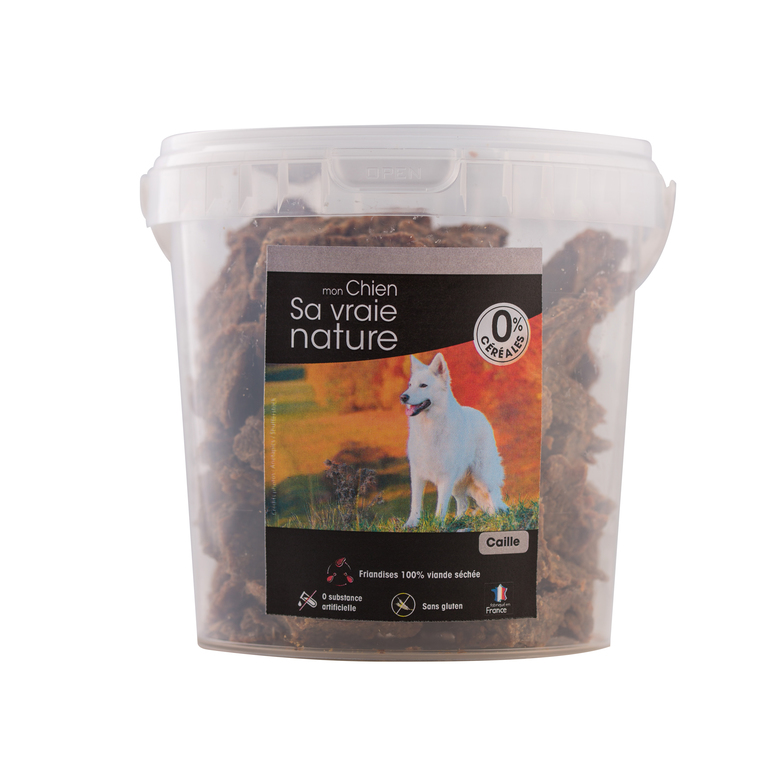 Friandises Sa vraie nature chien - 100% caille - 350 g 366611