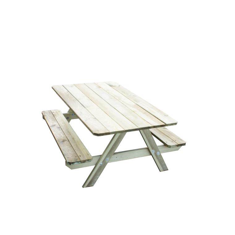Table picnic enfant avec bancs intégrés 91x90x57 cm 367456