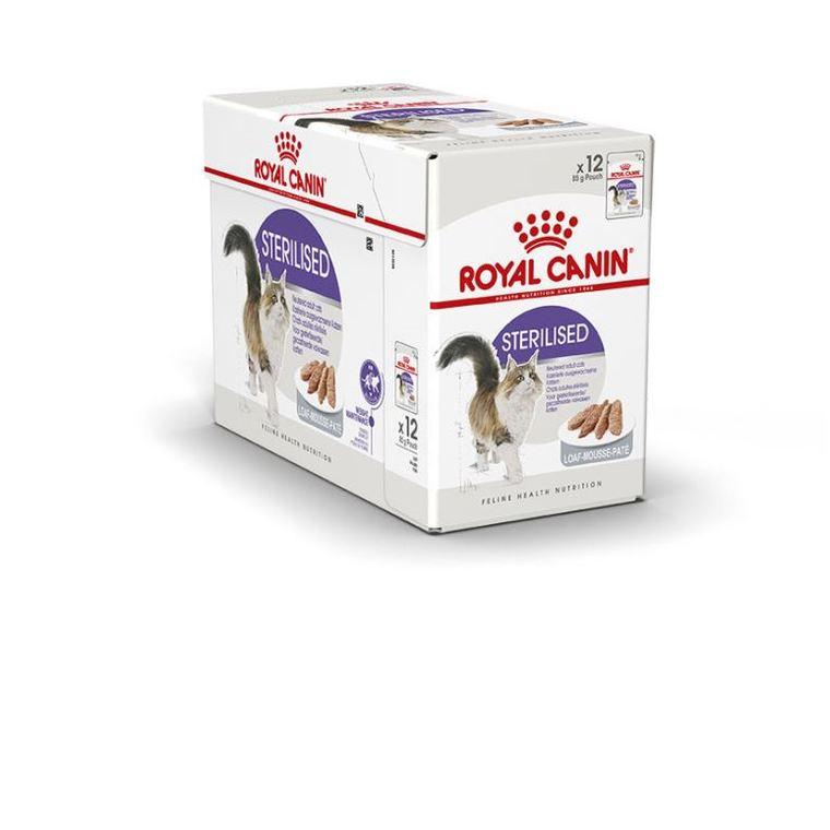 Sachets pour chat Sterilised mousse Royal Canin - 12x85 gr 370988