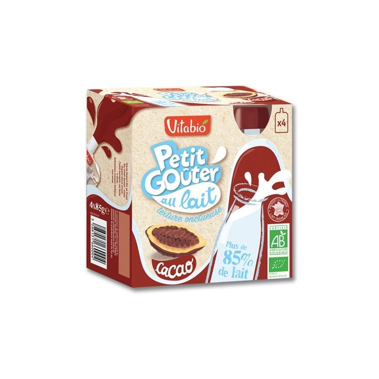 P'tit goûter au lait cacao Vitabio 4 x 85 g 371330