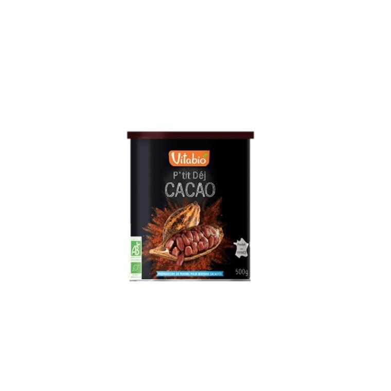 Cacao en poudre p'tit dej Vitabio 500 g 371354